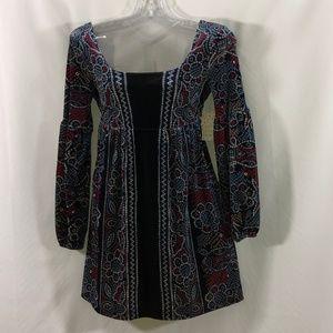 Free People mini/tunic velvet w/renaissance flare